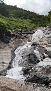 大滝上のナメ帯