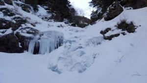 左俣ゴルジュ先の氷瀑
