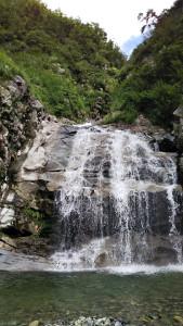最初の15m滝