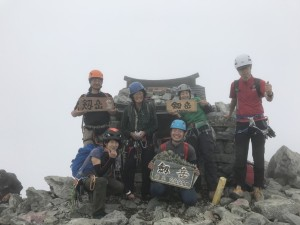 源次郎尾根からの剱岳山頂