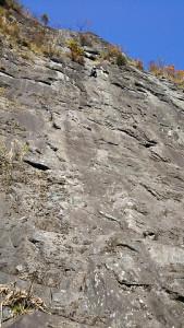 獅子岩を見上げる