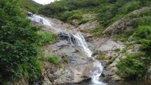 第二スラブ上の滝